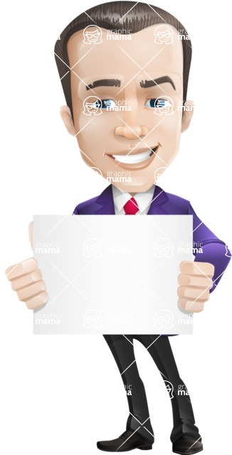 business vector cartoon character man graphic design ultra violet color 2018 - Sign5