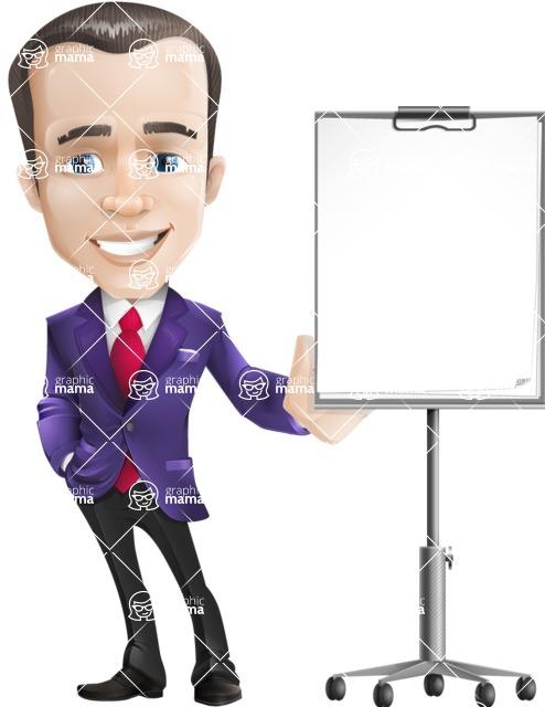 business vector cartoon character man graphic design ultra violet color 2018 - Presentation3