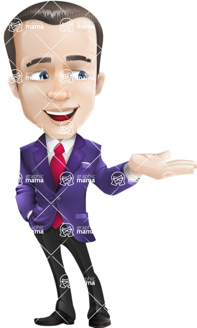 business vector cartoon character man graphic design ultra violet color 2018 - Showcase 2