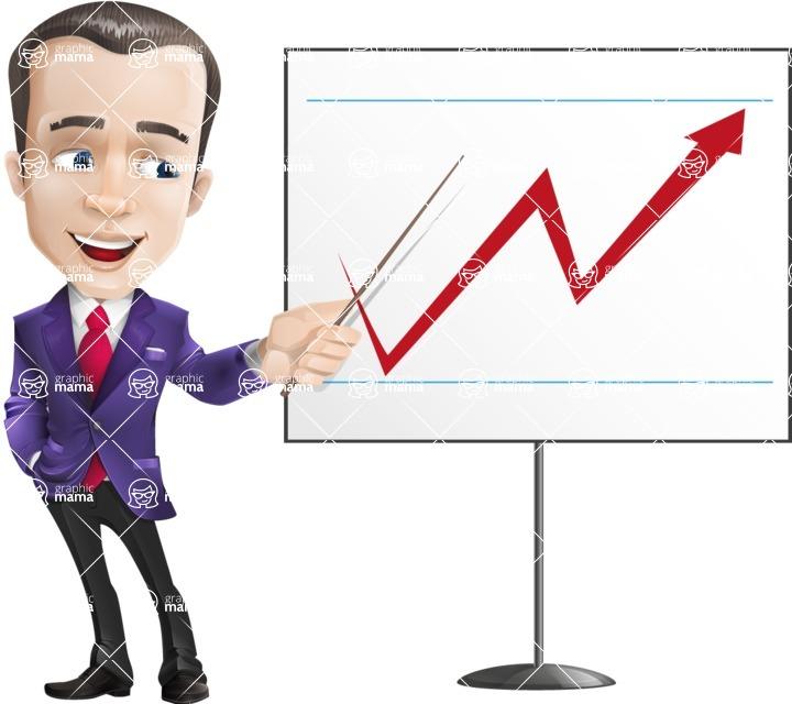 business vector cartoon character man graphic design ultra violet color 2018 - Presentation4