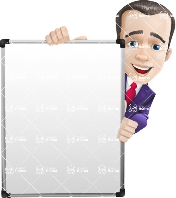 business vector cartoon character man graphic design ultra violet color 2018 - Presentation6