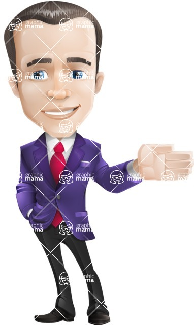 business vector cartoon character man graphic design ultra violet color 2018 - Show