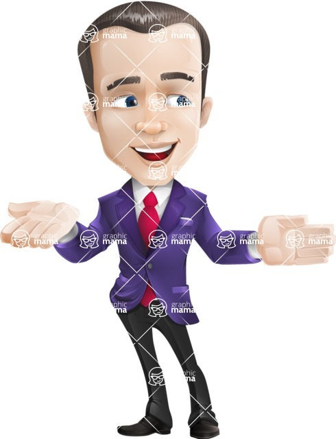 business vector cartoon character man graphic design ultra violet color 2018 - Show2