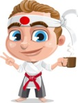 Combo The Little Karate Boy - Coffee