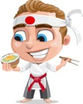 Combo The Little Karate Boy - Rice bowl