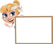 Little Girl with Karate Outfit Cartoon Vector Character AKA Peta - Presentation 5