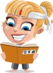 Little Girl with Karate Outfit Cartoon Vector Character AKA Peta - Book 1