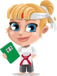 Little Girl with Karate Outfit Cartoon Vector Character AKA Peta - Book 3