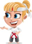 Little Girl with Karate Outfit Cartoon Vector Character AKA Peta - Showcase