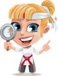 Little Girl with Karate Outfit Cartoon Vector Character AKA Peta - Search