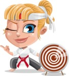 Little Girl with Karate Outfit Cartoon Vector Character AKA Peta - Target