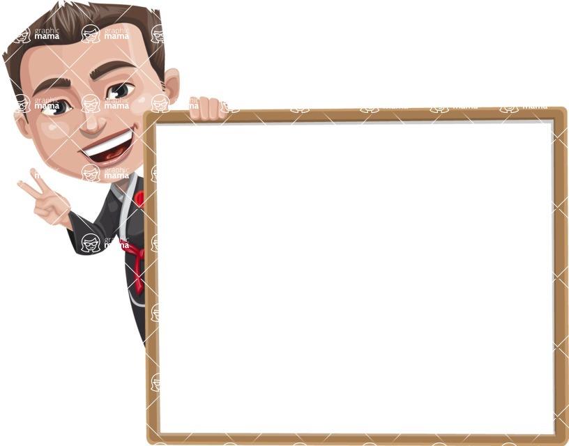 Chinese Karate Man Cartoon Vector Character AKA John Li - Presentation 5