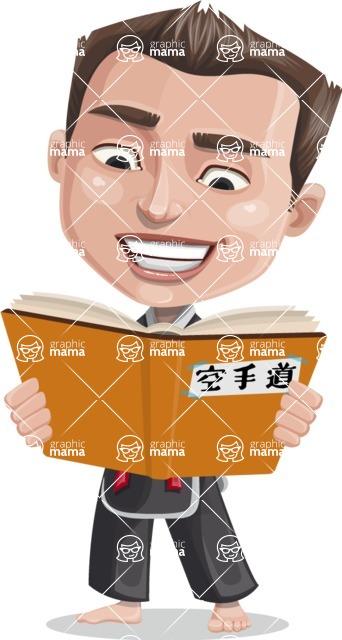 Chinese Karate Man Cartoon Vector Character AKA John Li - Book 1