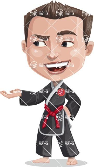 Chinese Karate Man Cartoon Vector Character AKA John Li - Showcase