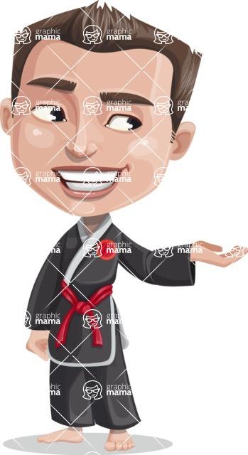 Chinese Karate Man Cartoon Vector Character AKA John Li - Showcase 2