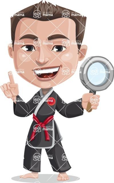 Chinese Karate Man Cartoon Vector Character AKA John Li - Search