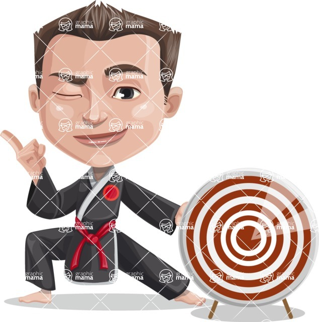 Chinese Karate Man Cartoon Vector Character AKA John Li - Target
