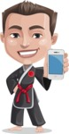 Chinese Karate Man Cartoon Vector Character AKA John Li - iPhone