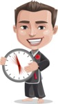 Chinese Karate Man Cartoon Vector Character AKA John Li - Time Is Yours