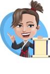 Karate Woman Cartoon Vector Character AKA Katya - Shape 3