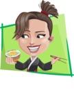 Karate Woman Cartoon Vector Character AKA Katya - Shape 4