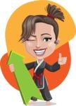 Karate Woman Cartoon Vector Character AKA Katya - Shape 10