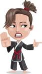Karate Woman Cartoon Vector Character AKA Katya - Direct Attention 2