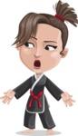 Karate Woman Cartoon Vector Character AKA Katya - Lost