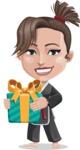 Karate Woman Cartoon Vector Character AKA Katya - Gift