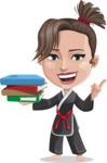 Karate Woman Cartoon Vector Character AKA Katya - Book 2