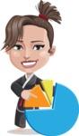 Karate Woman Cartoon Vector Character AKA Katya - Chart
