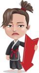 Karate Woman Cartoon Vector Character AKA Katya - Pointer 3