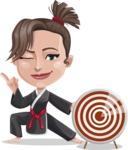Karate Woman Cartoon Vector Character AKA Katya - Target