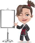 Karate Woman Cartoon Vector Character AKA Katya - Presentation 1