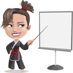 Karate Woman Cartoon Vector Character AKA Katya - Presentation 2