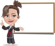 Karate Woman Cartoon Vector Character AKA Katya - Presentation 3