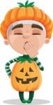 Kid with Halloween Costume Cartoon Vector Character AKA Keat Trick-or-treat - Being Bored