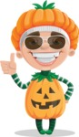 Kid with Halloween Costume Cartoon Vector Character AKA Keat Trick-or-treat - Being Cool
