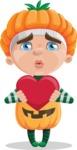 Kid with Halloween Costume Cartoon Vector Character AKA Keat Trick-or-treat - Feeling Inloved