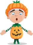 Kid with Halloween Costume Cartoon Vector Character AKA Keat Trick-or-treat - Feeling Lost