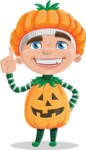 Kid with Halloween Costume Cartoon Vector Character AKA Keat Trick-or-treat - Making a Point