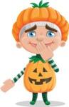 Kid with Halloween Costume Cartoon Vector Character AKA Keat Trick-or-treat - Making Oops Gesture