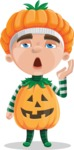 Kid with Halloween Costume Cartoon Vector Character AKA Keat Trick-or-treat - Tired and Yawning