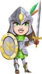 Knightalia Beauty-Mark - Shield and sword