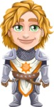 Blonde Prince with Armor Cartoon Vector Character AKA Edgar Medieval - Normal