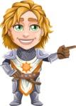 Blonde Prince with Armor Cartoon Vector Character AKA Edgar Medieval - Point2