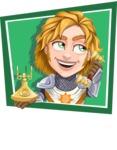 Blonde Prince with Armor Cartoon Vector Character AKA Edgar Medieval - Shape 2