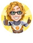 Blonde Prince with Armor Cartoon Vector Character AKA Edgar Medieval - Shape 3