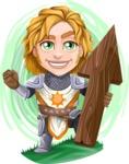 Blonde Prince with Armor Cartoon Vector Character AKA Edgar Medieval - Shape 5