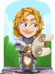 Blonde Prince with Armor Cartoon Vector Character AKA Edgar Medieval - Shape 6